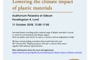 EIT Climate-KIC Lecture_Lowering the climate impact of plastic materials_11Oct2018
